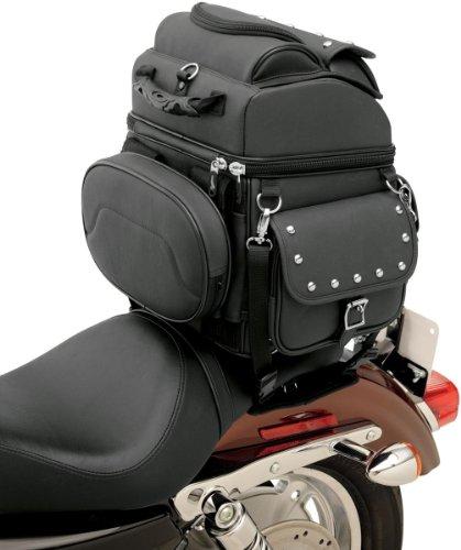 Saddlemen 3515-0119 Combination BackrestSeatSissy Bar Bag With Studs