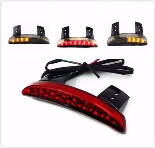 Chopper Fender Edge Brake Stop Turn Signal Tail Rear Light For Harley Iron 883 Sportster 1200 Red