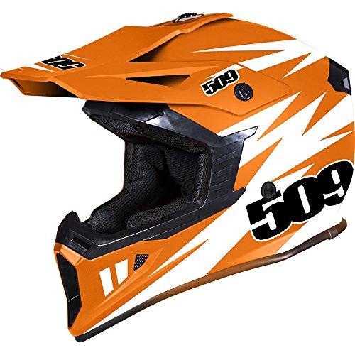 509 Tactical Snow Snowmobile Helmet - Orange - Orange White - 509-HEL-TOR-_