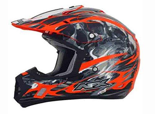 AFX FX-17 Inferno Helmet  Distinct Name Orange Gender MensUnisex Primary Color Orange Helmet Type Offroad Helmets Helmet Category Offroad Size Sm 0110-3567