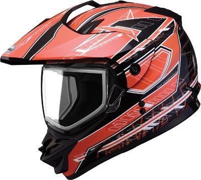 G-Max GM11S Nova Helmet  Distinct Name BlackOrangeWhite Gender MensUnisex Primary Color Orange Helmet Type Full-face Helmets Helmet Category Offroad Size XS G2112253 TC-6