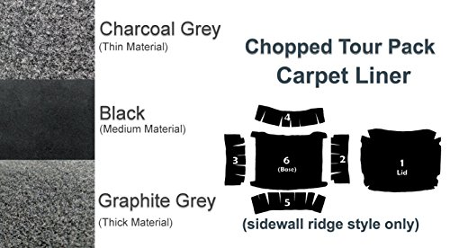 Chopped Tour Pak Pack Carpet Liner for 1994-2013 Harley-Davidson Chopped Tour pack w Sidewall Ridges Charcoal
