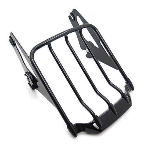 HK MOTO- Detachable Luggage Rack For Harley 09-17 Touring Road KingRoad Glide Gloss Black