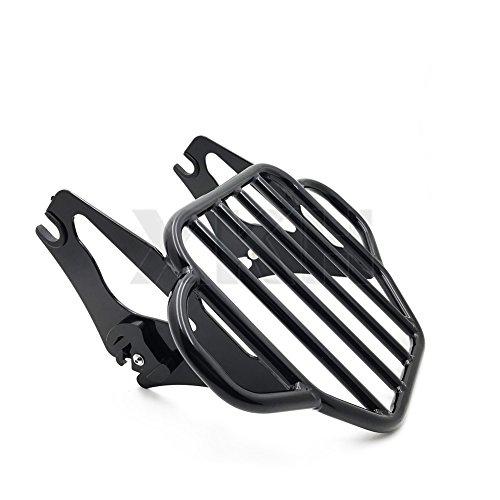 XKH Group Gloss Black Detachable Luggage Rack For 09-16 Harley Road KingStreet Glide