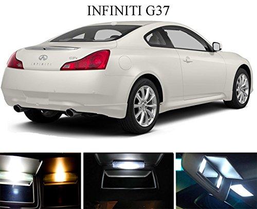 2003 - 2013 Infiniti G35 G37 Xenon White Vanity  Sun Visor LED Light Bulbs 4 Pieces