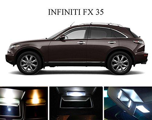 2005 - 2015 Infiniti FX 35 Xenon White Vanity  Sun Visor LED Light Bulbs 4 Pieces