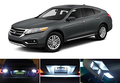 2010 - 2015 Honda Crosstour Xenon White LED Package for License Plate  Reverse  Vanity Sun Visor 8 pieces