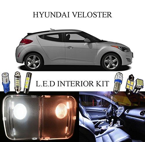2011 - 2014 Hyundai Veloster Xenon White LED Interior package  VanitySun Visor  License Plate 8 pieces