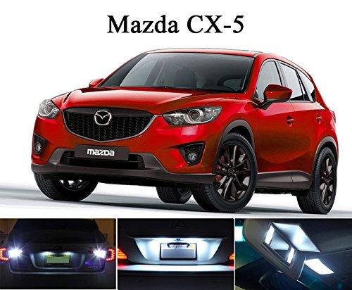 2013 - 2014 Mazda CX-5 Xenon White LED Package for License Plate  VanitySun Visor lights 4 Pieces