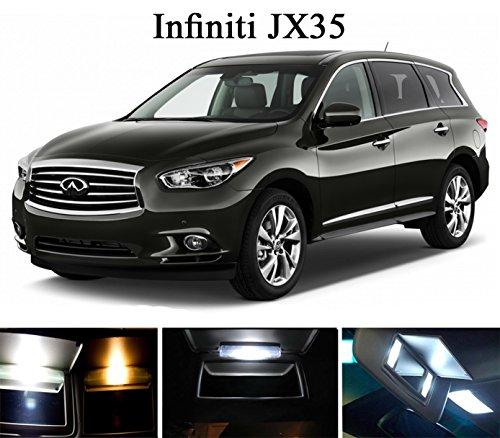 2013 - 2015 Infiniti JX 35 Xenon White Vanity  Sun Visor LED Light Bulbs 4 Pieces