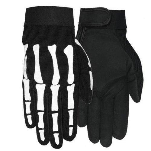 BudK Skeleton Mechanic Gloves- Large
