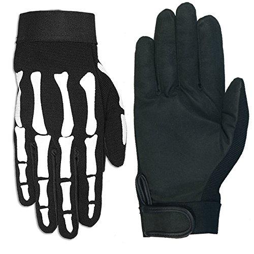 Hot Leathers Skeleton Mechanic Gloves Black X-Large