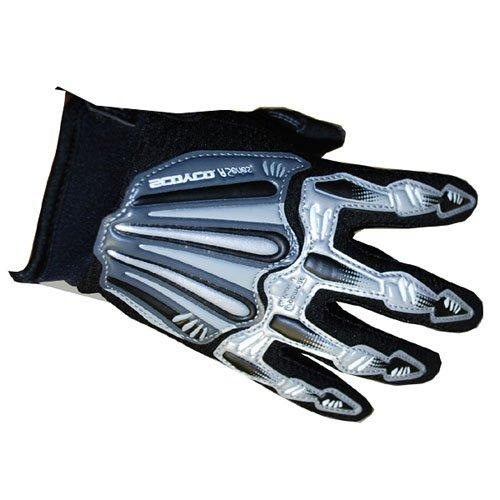 Motocross Motorcycle BMX MX ATV Dirt Bike Skeleton Racing Gloves Black