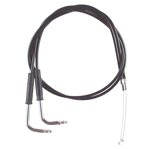 Black Vinyl Coated 12 Throttle Cable Set for 1996-2003 Harley-Davidson Sportster XLH1200 models -H C-0340-0148-1200H
