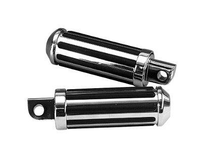 KCInt Custom Inlay Rib Stylin Rider Pegs for Harley Davidson