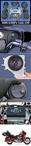 J&M STAGE-4 ROKKER XXR Custom 630w 4-SpeakerAmplifier Installation Kit for 2014-18 Harley CVO UltraLtd