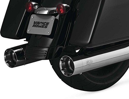 Vance Hines 16549 Chrome Oversized 450 Titan Slip-on Mufflers for 1995-2016 Harley-Davidson Twin Cam Touring Models