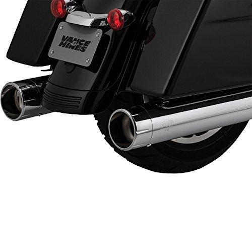 Vance Hines 16557 Chrome Oversized 450 Raider Slip-on Mufflers for 1995-2016 Harley-Davidson Twin Cam Touring Models
