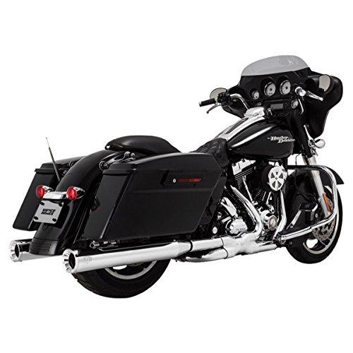 Vance Hines 16703 Chrome Eliminator 400 Slip-on Mufflers for 1995-2016 Harley-Davidson Twin Cam Touring Models