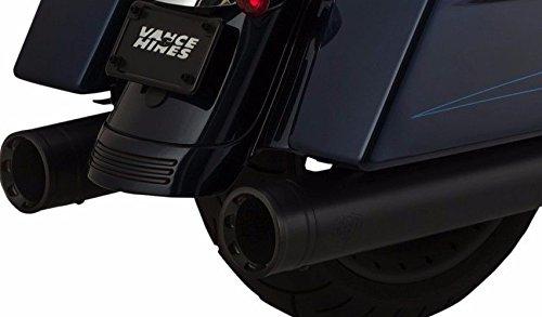 Vance Hines 46553 Black Oversized 450 Destroyer Slip-on Mufflers for 1995-2016 Harley-Davidson Twin Cam Touring Models