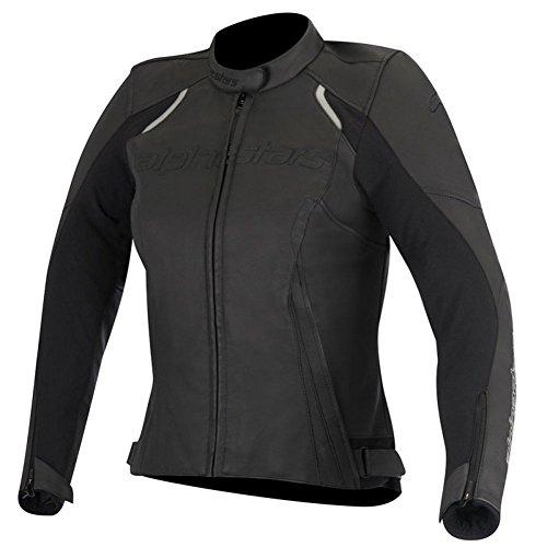 Alpinestars Stella Devon Womens Leather Motorcycle Jackets - Black - 44