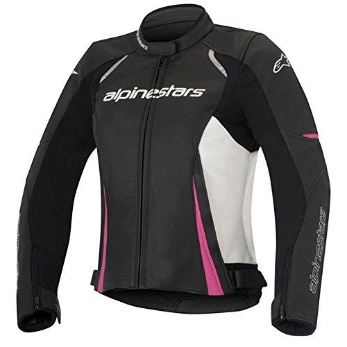 Alpinestars Stella Devon Womens Leather Motorcycle Jackets - BlackWhite - 38