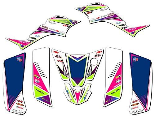 Senge Graphics 2003-2006 Kawasaki KFX 50 Surge Pink Graphics Kit