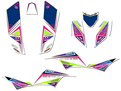 Senge Graphics 2004-2009 Kawasaki KFX 700 Surge Pink Graphics Kit