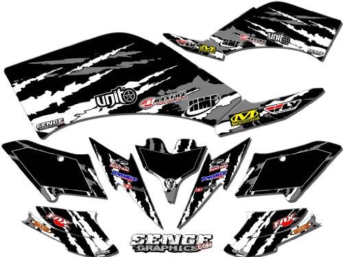 Senge Graphics 2007-2016 Kawasaki KFX 90 Shredder Black Graphics Kit