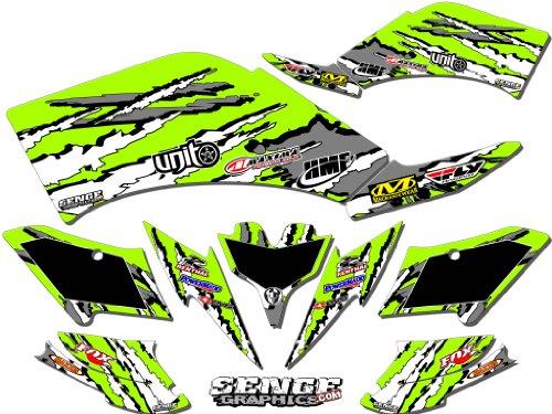 Senge Graphics 2008-2016 Kawasaki KFX 450R Shredder Green Graphics Kit