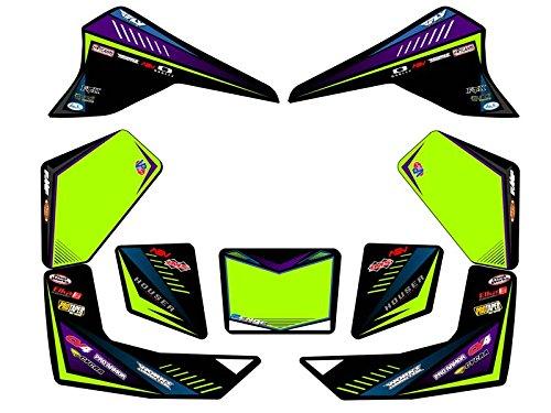 Senge Graphics All Years Kawasaki KFX 80 Surge Black Graphics Kit