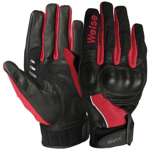AIRFLOW PLUS - Weise Motorcycle Mesh Gloves 3XL BLACKRED