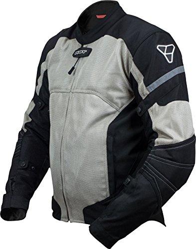 Pilot Motosport Mens Direct Air Mesh Motorcycle Jacket V3 Silver Medium