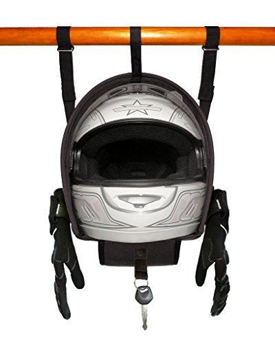 Helmet Hammock – Motorcycle Helmet Accessory Storage Bag Shelf Hanger By Two Wheel Addiction Fits Arai Bell HJC Shoei Suomy Fox Racing Fly Racing etc