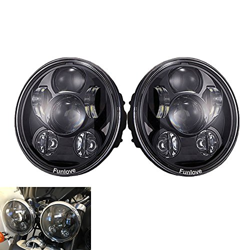 Funlove 575 Inch Black Led Headlights For Triumph Rocket iii 3 Speed Triple Street Triple Thunderbird