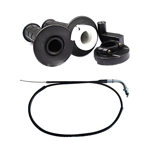 CISNO Twist Throttle Handle Grip And Cable Replacement For Dirt Bike Quad ATV Pit 50cc 125cc 150 250