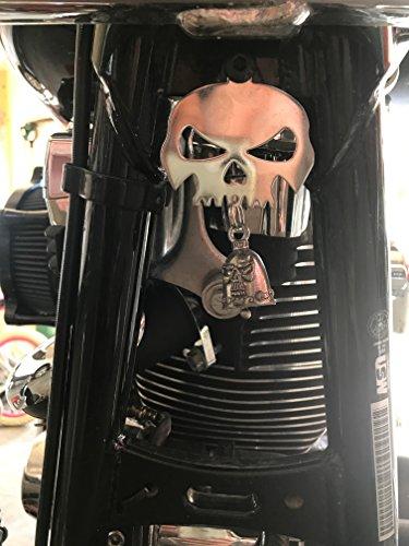 Skull Bell Hanger  Mount for Motorcycle Bolt Ring Included fits all bikes Road King Street Glide Harley Davidson