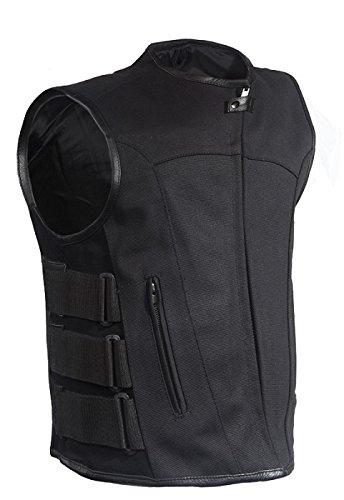 Men's Motorcycle Textile Vest with Gun Pockets Size M MD Medium 40-42