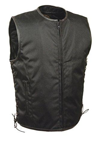 Milwaukee Performance Mens Basic Textile Vest with Leather Trims Black XX-Large
