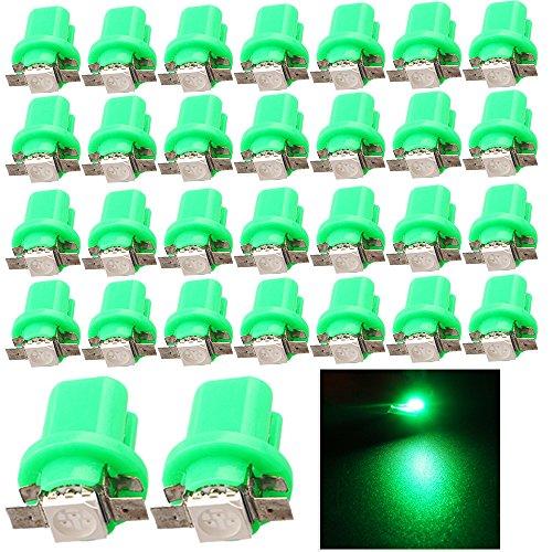 EverBrightt 30-Pack Green B85 5050 1SMD LED Car Instrument Lamp Dashboards Gauge Lamp DC 12V
