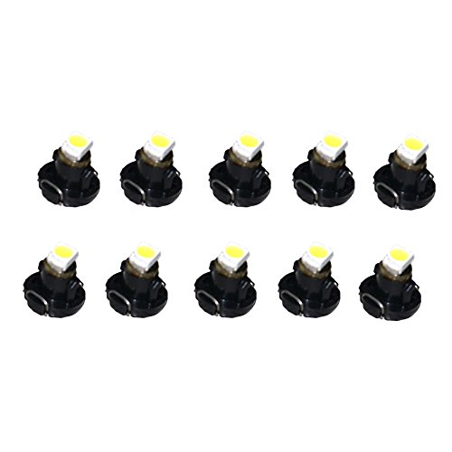 FLYPIG 10pcs T3 White Lights Neo Wedge LED 1-SMD 3528 Car Instrument Cluster Panel Dashboard Lamps Gauge Bulbs DC 12V