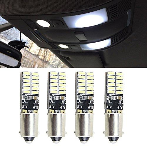 NSLUMO 4x No Error No Polarity Ba9s T4W 64111 Led Lamp 48W 4014 SMD 12V Car Instrument Parking Marker LED Lights Bulb White Canbus