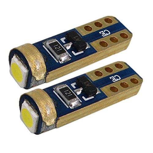 WLJH Super Bright 10 pcs T5 74 286 5mm Wedge Based Led Bulbs SMD 3030 12V 24V Car Instrument Cluster Panel Dashboard Lamps Gauge Bulbs