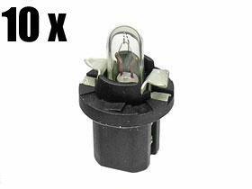 Mercedes Bulb 12w w Black Socket for Dash Instruments x10