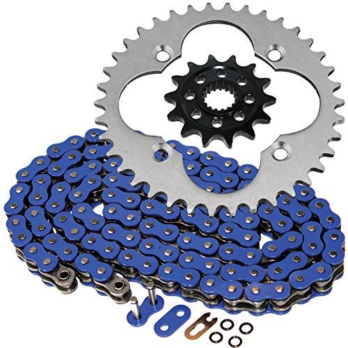 Caltric O-Ring Blue Drive Chain Sprockets Kit Fits HONDA 450R TRX450R TRX-450R 2004 2005