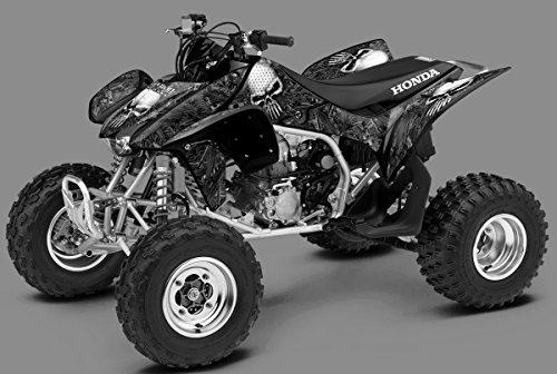 Honda TRX 450R Graphics Kit - Arsenal - Black Design 04-07