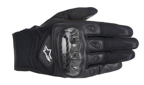 Alpinestars SMX-2 AC Mens Leather Street Racing Motorcycle Gloves - Black  Medium
