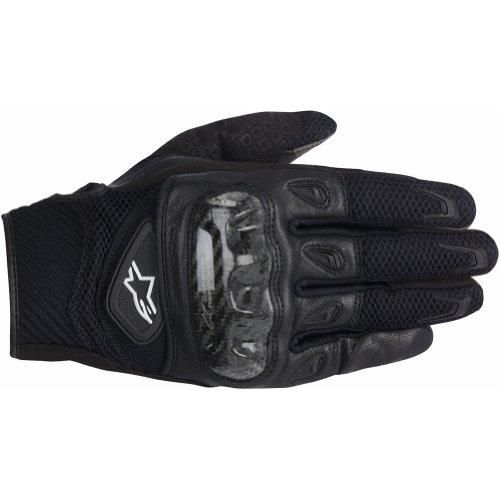 Alpinestars SMX-2 AC Mens Leather Street Racing Motorcycle Gloves - Black  2X-Large