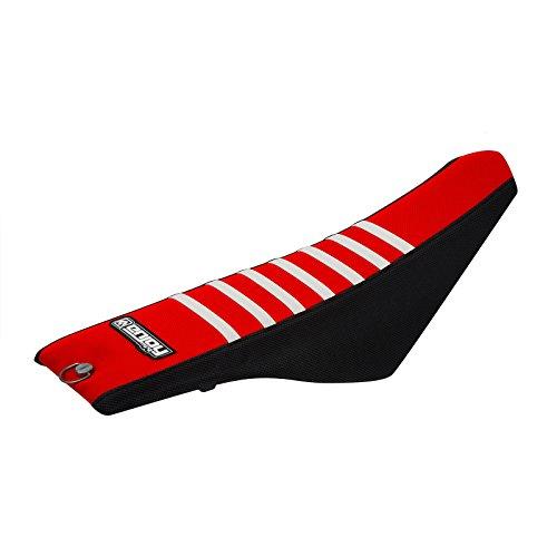 Enjoy MFG 2004 - 2008 Husqvarna SMR 510 450 - TE 510 450 310 250 - TC 450 250 - CR 250 125 - WR 250 125 Black Sides  Red Top  White Ribs Seat Cover