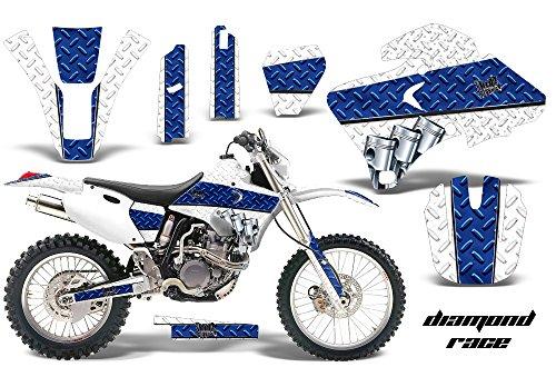 Yamaha WR250F WR400F WR426F 1998-2002 MX Dirt Bike Graphic Kit Sticker Decals WR 250 400 426 F DIAMOND RACE WHITE